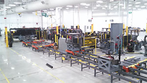 Complete manufacturing transfer line – ROPS cab manufacturing
