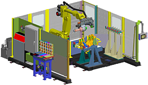 Robotic Material Handling Bushing Press